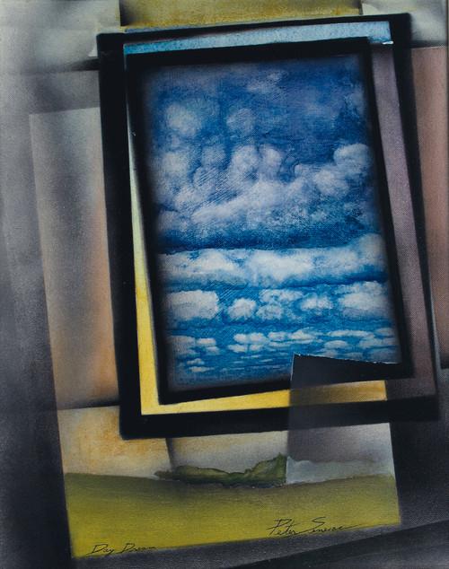 'Day Dreams'  acrylic and color pencil on Canvas