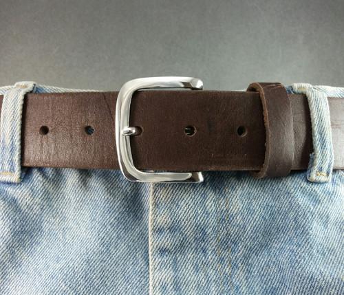 The Explorer Belt Buckle for 1 1/2 inch belts in Solid Polished Sterling Silver