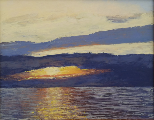 Cedar Key Sunrise 16x20 oil on panel