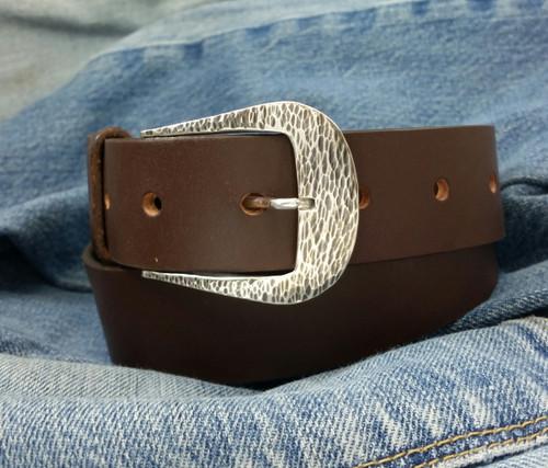Farrier Quarter Horse Belt Buckle in Sterling Silver for 1.25 inch belts