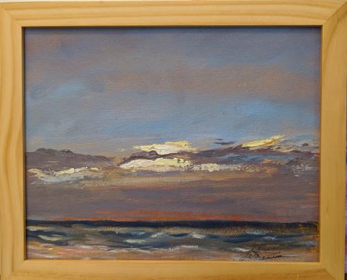 St Augustine Beach 8:00 A.M 8 x 10 Framed