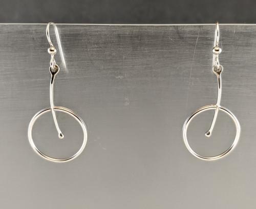 Unicycle earrings