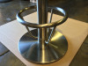 "Table Base Foot Ring for 3"" Columns, 10""x 12"", Stainless Steel, table base not included - Replacementtablelegs.com"