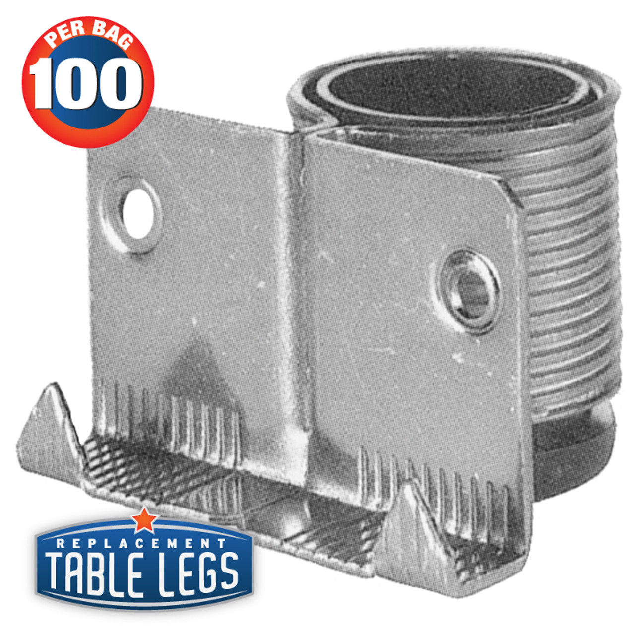 Steel Cabinet and Furniture Leveler, Regular Duty,  ABS insert - replacementtablelegs