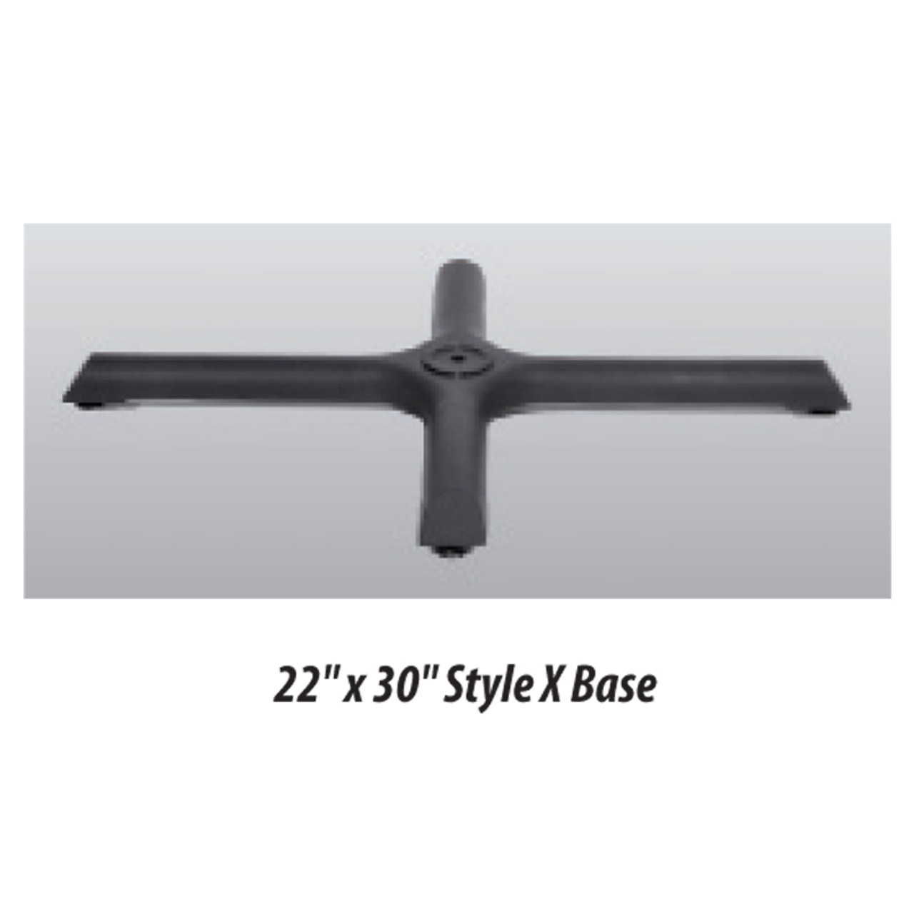 """X Style Table Base 22""""x30"""" - replacementtablelegs.com"""