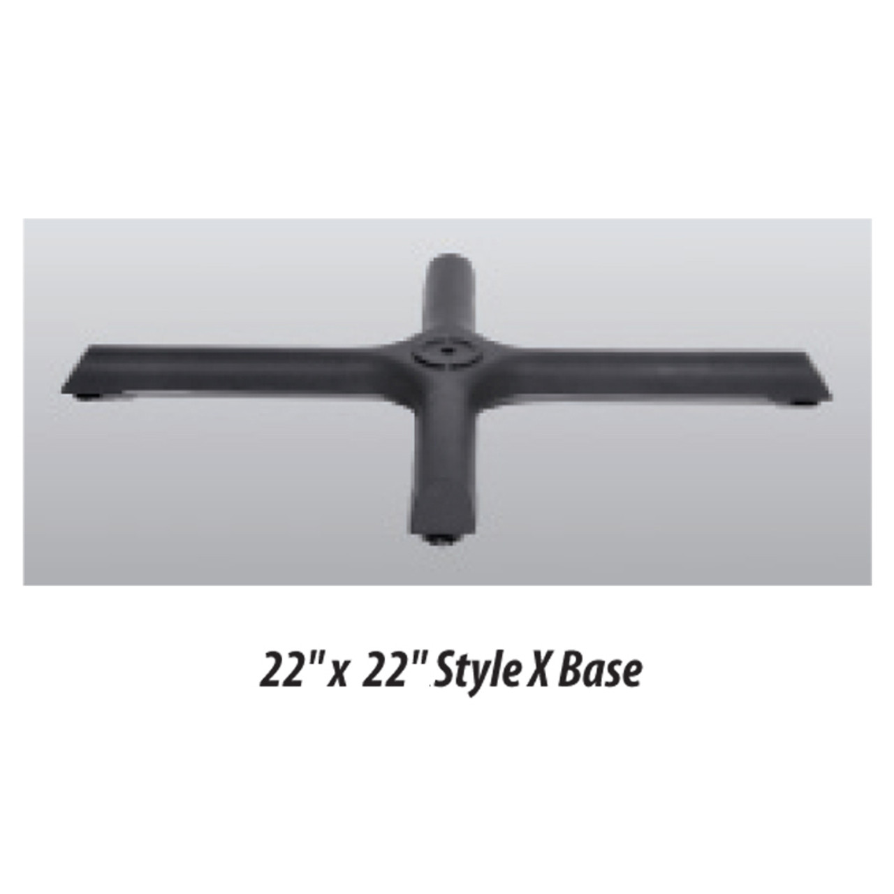 """X Style Table Base 22""""x22"""" - replacementtablelegs.com"""