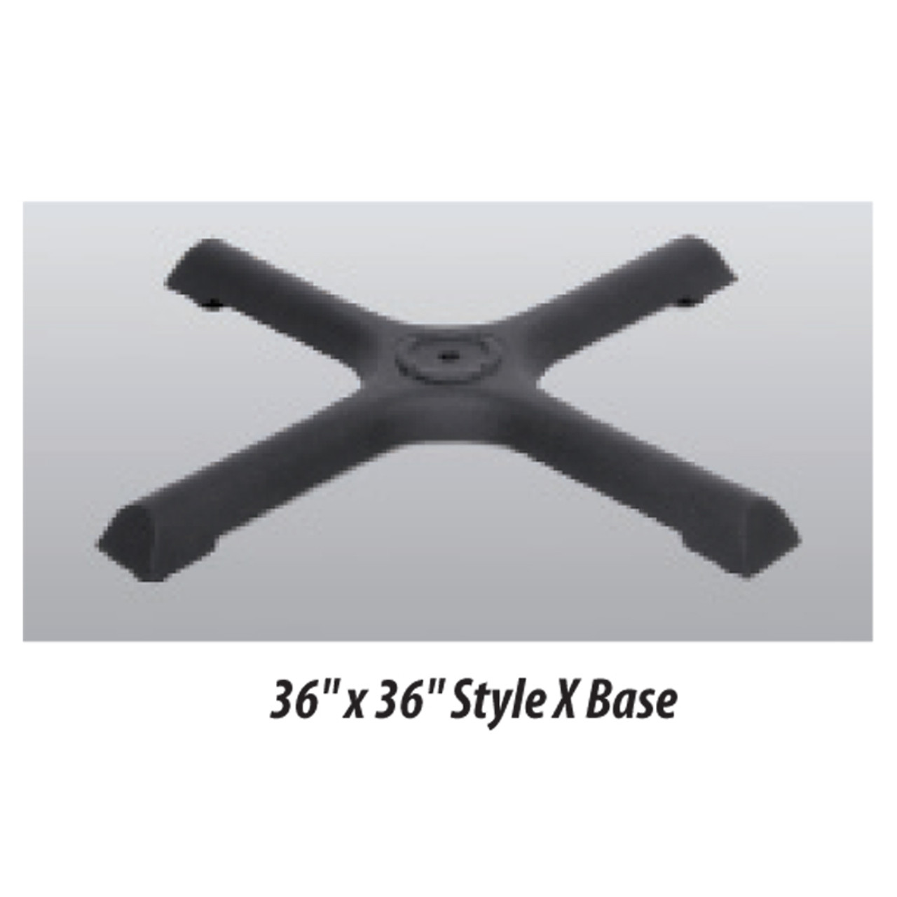 "X Style Table Base 36""x36"" - replacementtablelegs.com"