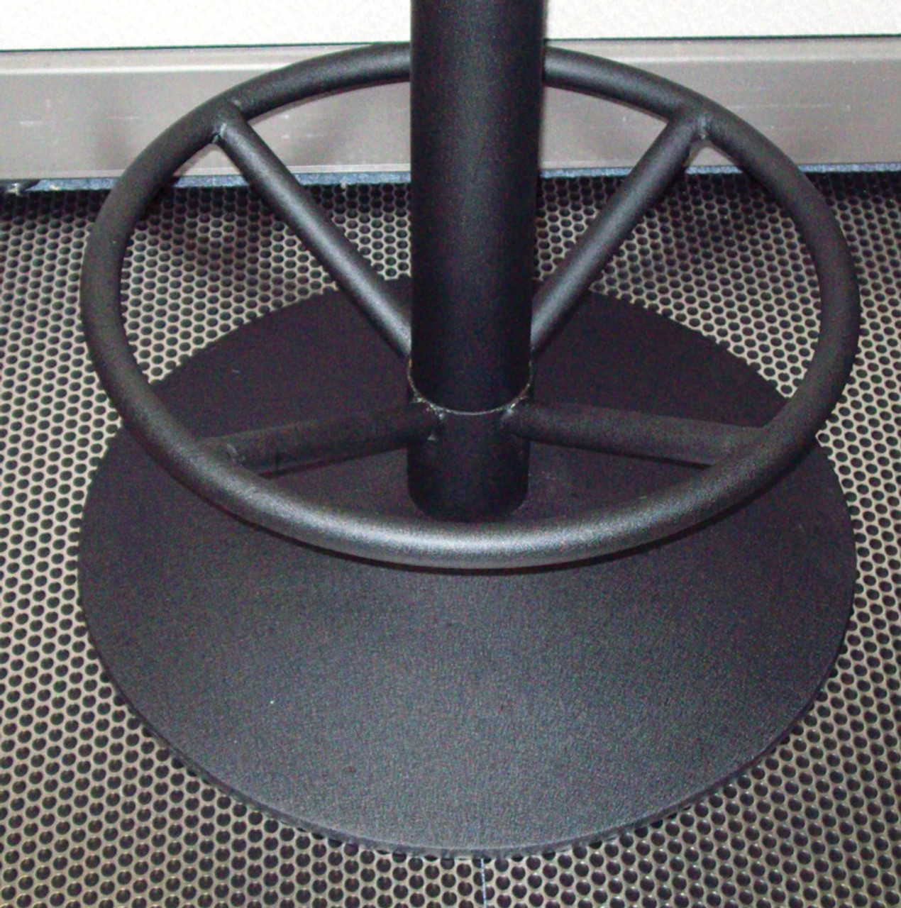 "Table Base Foot Ring for 4"" Columns, Cast Iron, 19""x 8"", Black Matte"