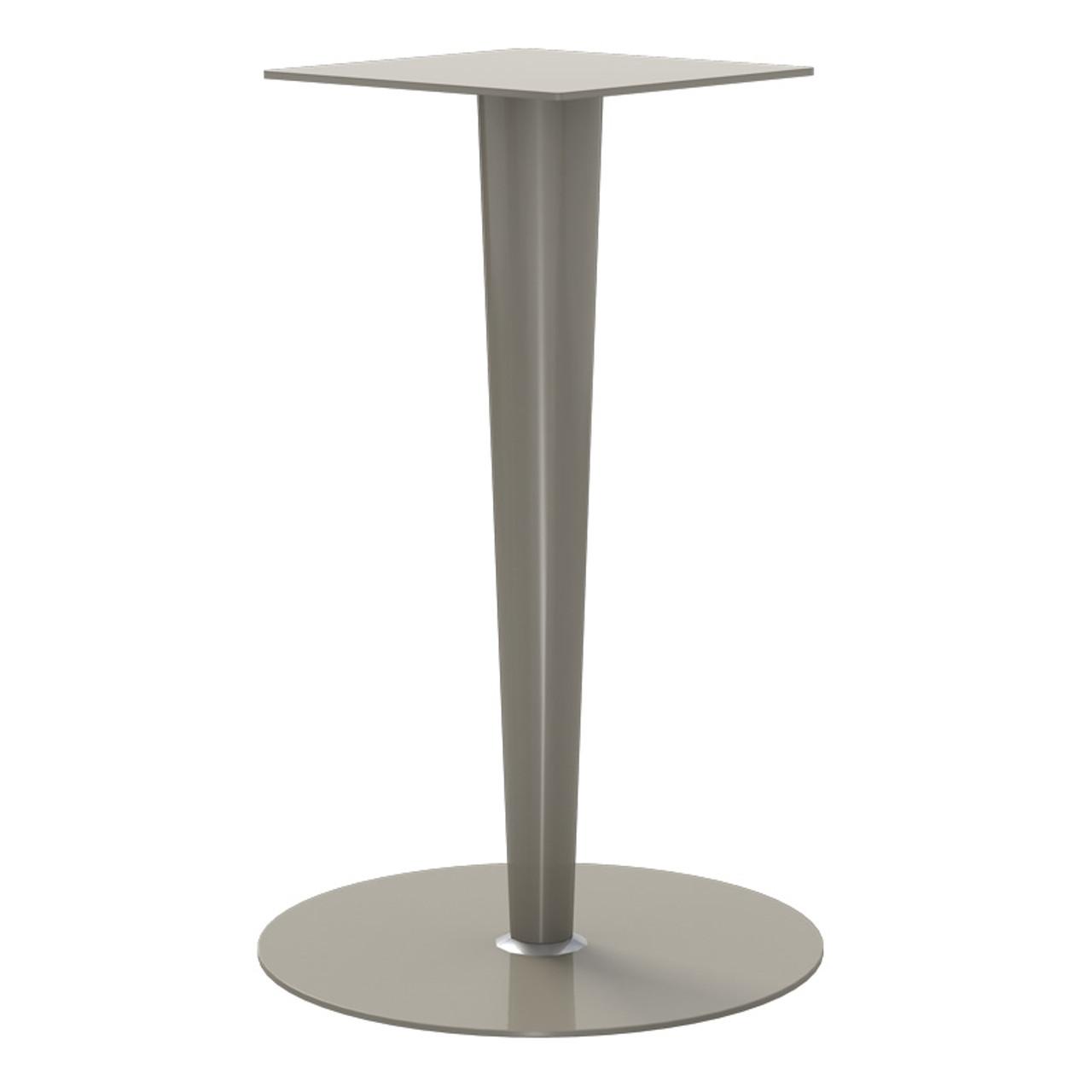 """Tapered Pedestal Base, 27-3/4"""" Height, 18"""" Base Diameter, 4""""-2"""" diameter Column - Replacementtablelegs.com"""