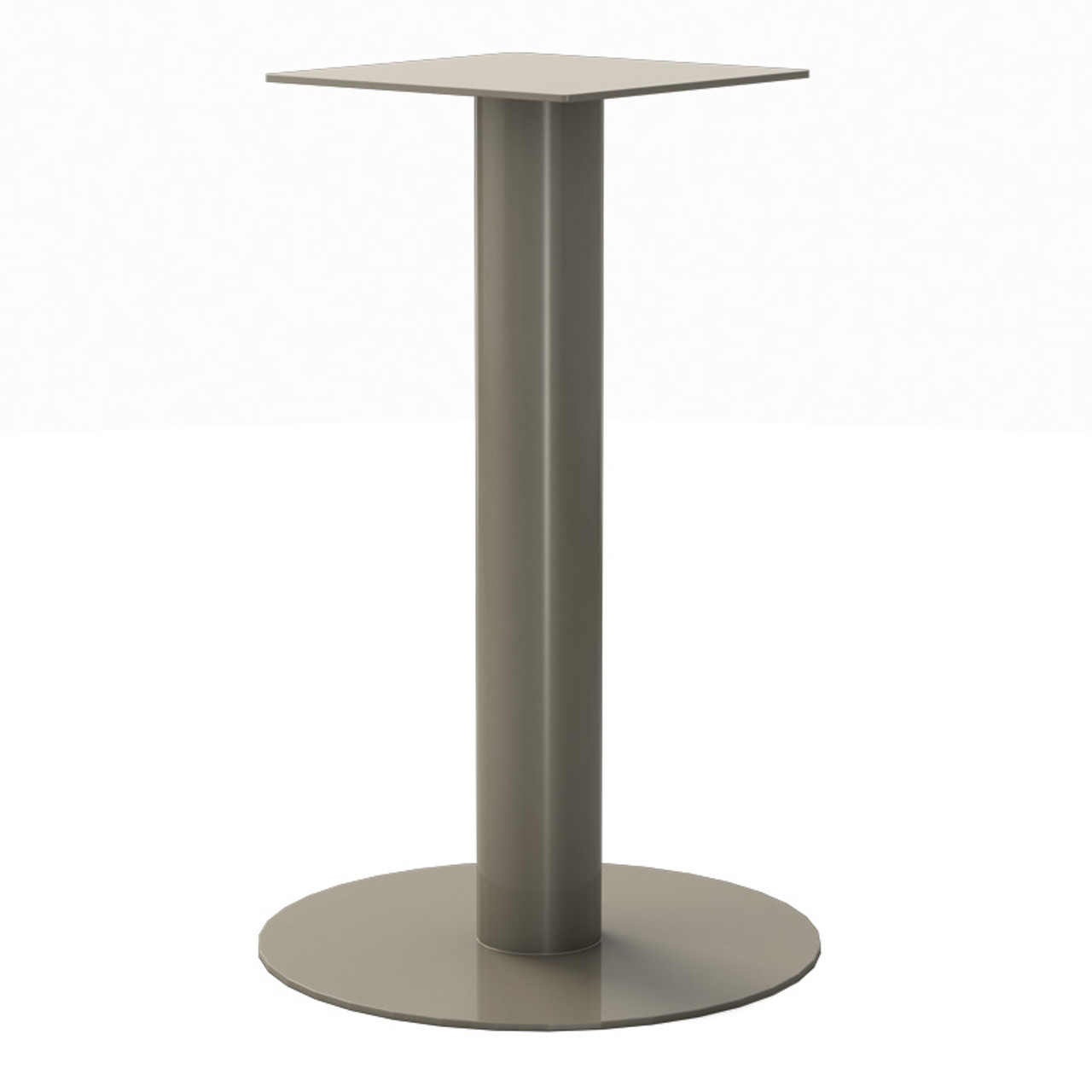 """Round Pedestal Base, 27-3/4"""" Height, 18"""" Base Diameter, 4"""" diameter Column, with welded mounting plate - Replacementtablelegs.com"""