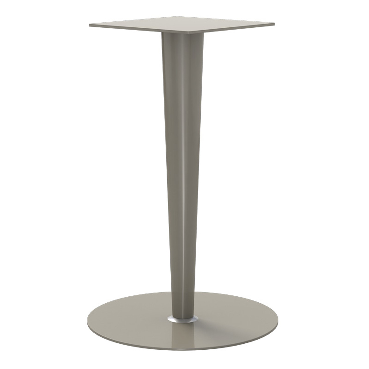 "Tapered Pedestal Base, 27-3/4"" Height, 23-3/4"" Base Diameter, 4""-2"" diameter Column - Replacementtablelegs.com"