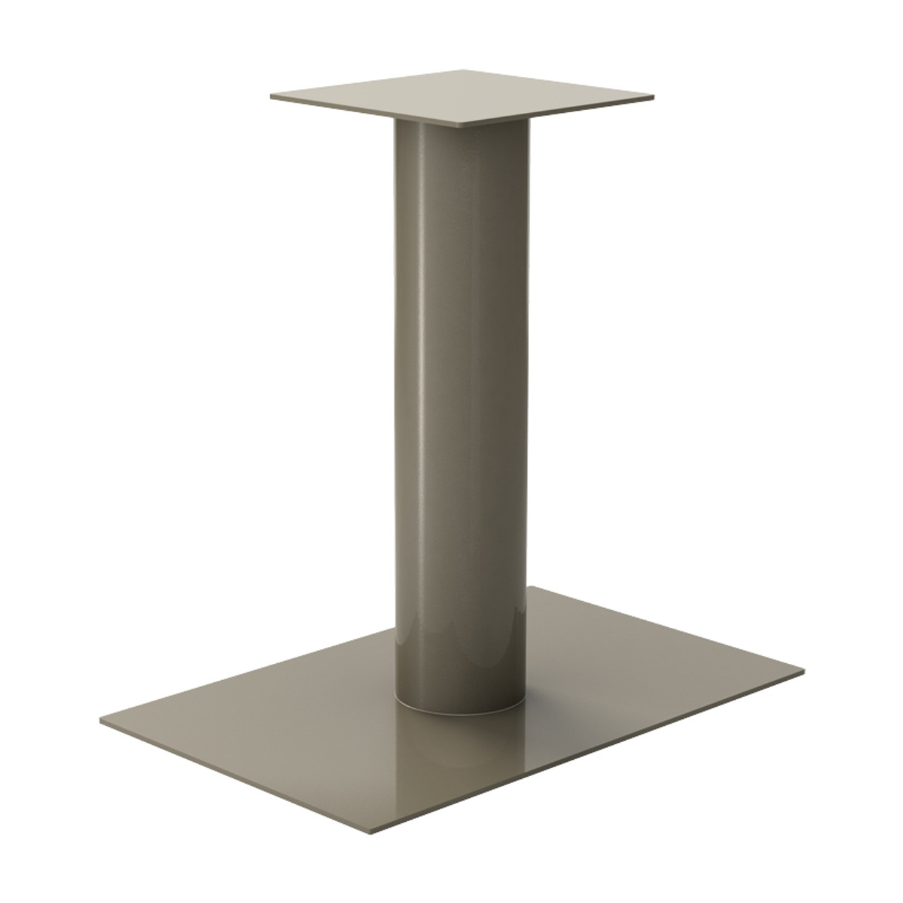 "Rectangle Pedestal Base, 27-3/4"" Height, 24""x28"" Base, 6"" diameter Column, with welded mounting plate - Replacementtablelegs.com"