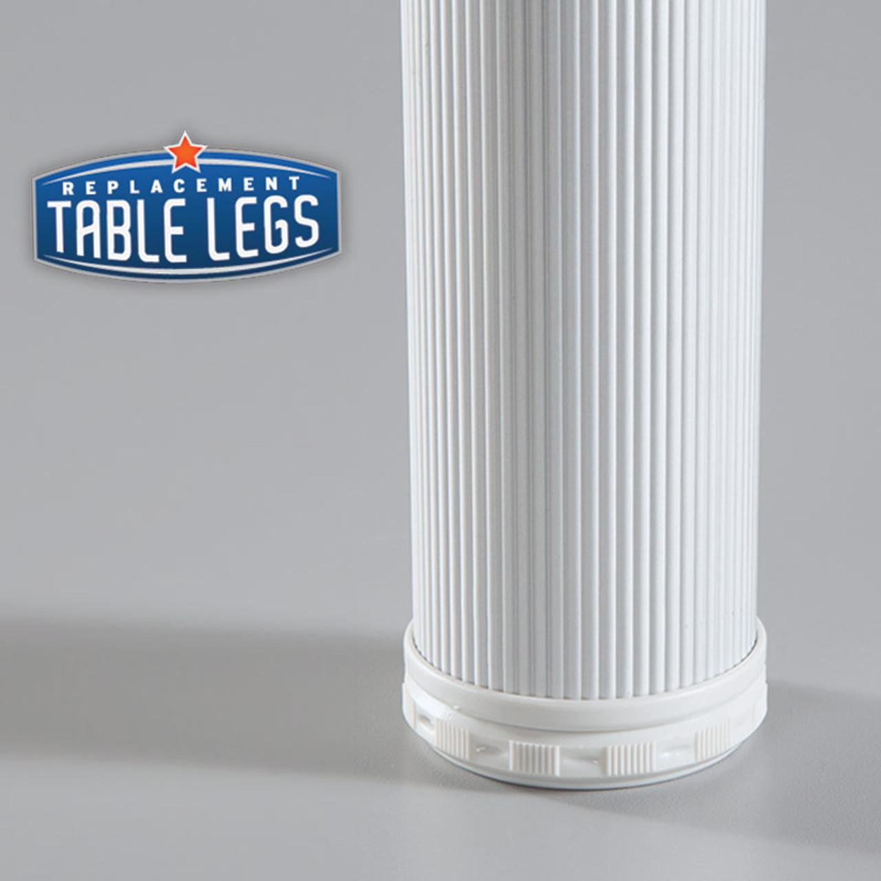 Alumina Como Leg, 6'' Cabinet Leg,  2'' diameter - replacementtablelegs.com