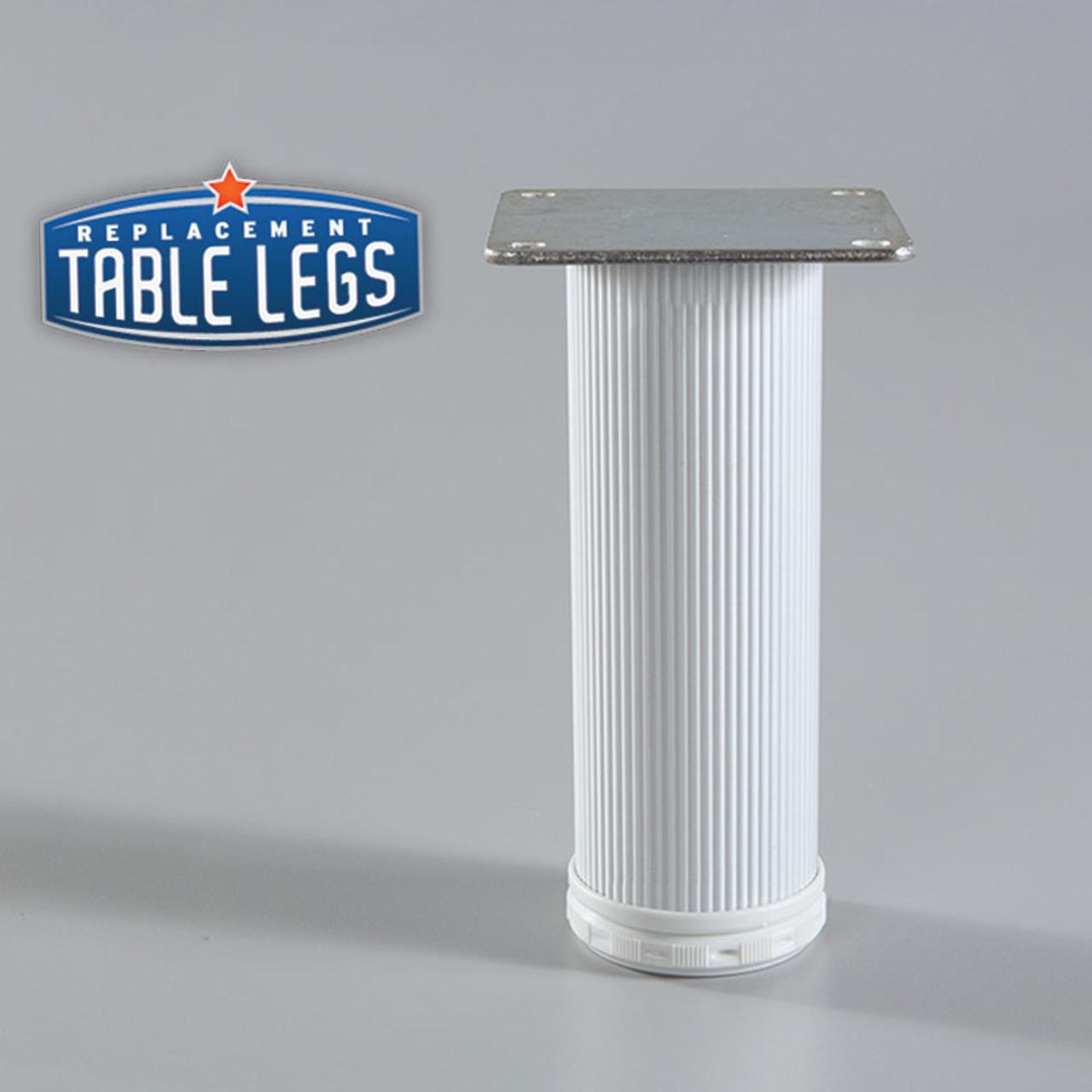 Alumina Como Leg, Cabinet Leg,  2'' diameter, 1-1/8'' adjustable foot - replacementtablelegs.com