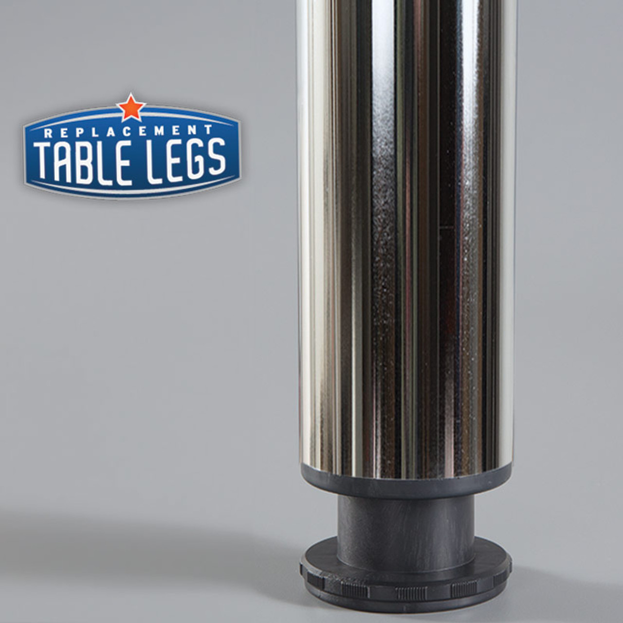 "1-1/8""adjustable ABS plastic foot - replacementtablelegs.com"