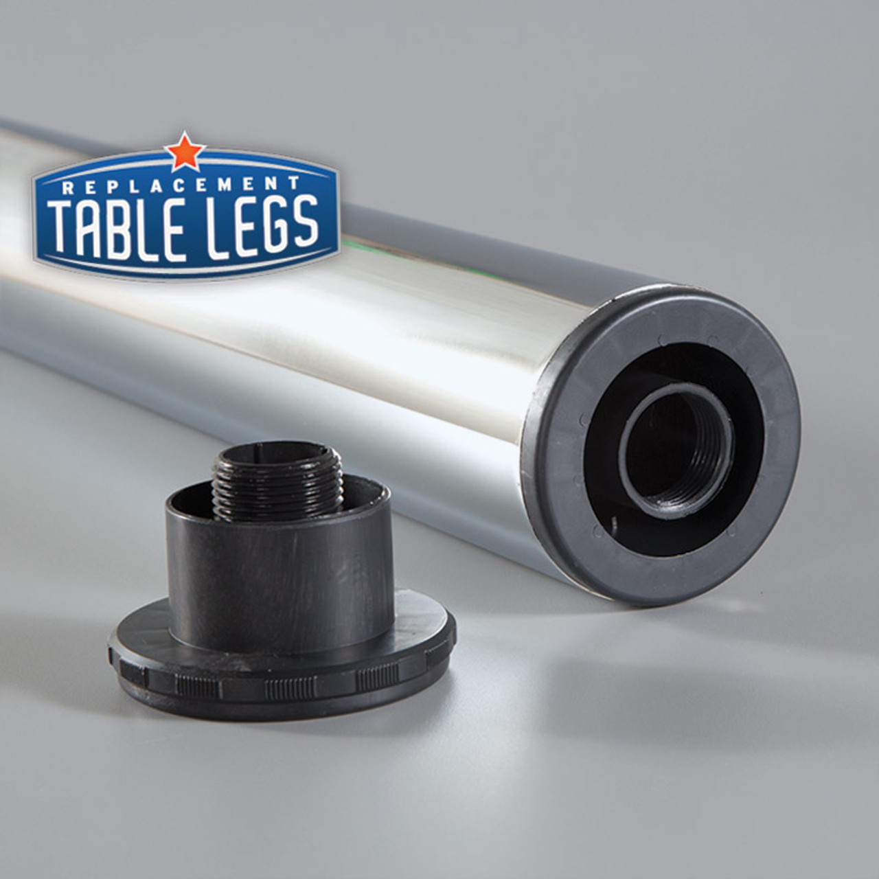 "1-1/8""adjustable ABS plastic foot detached - replacementtablelegs.com"