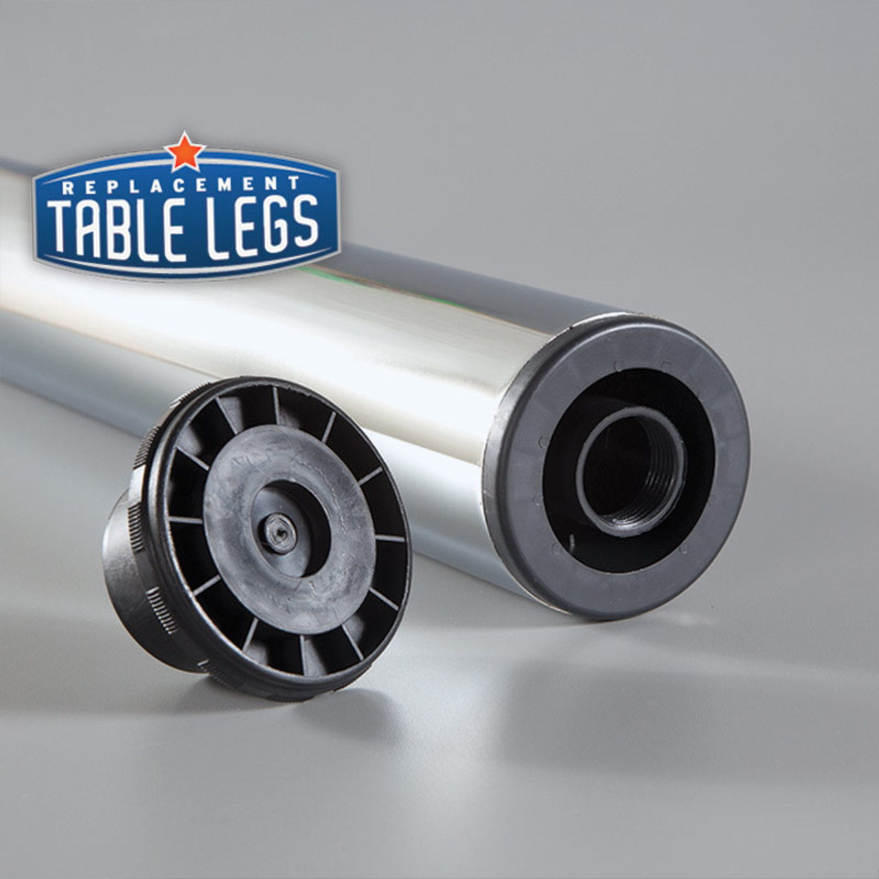 "1-1/8""adjustable ABS plastic foot bottom- replacementtablelegs.com"