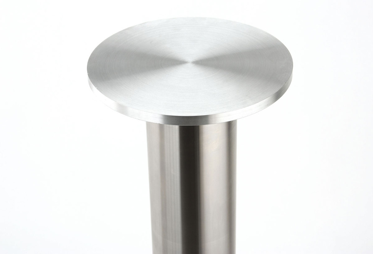 Rostek GL220 shown attached to a stainless steel Rostek table base column.