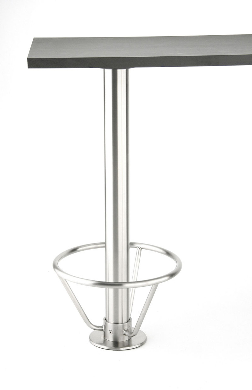 Rostek Stainless Steel Bolt Down Base shown with optional stainless steel footring.