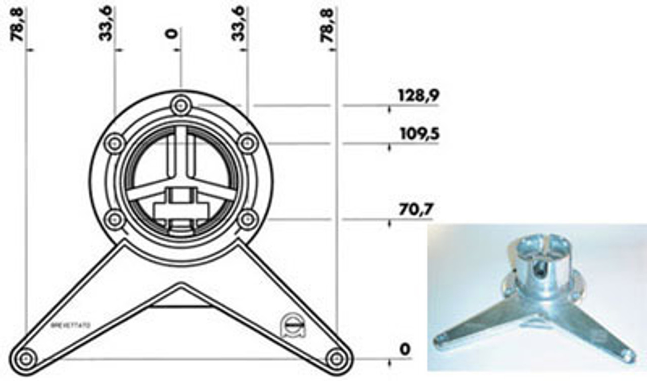Mounting bracket and dimensions - replacementtablelegs.com