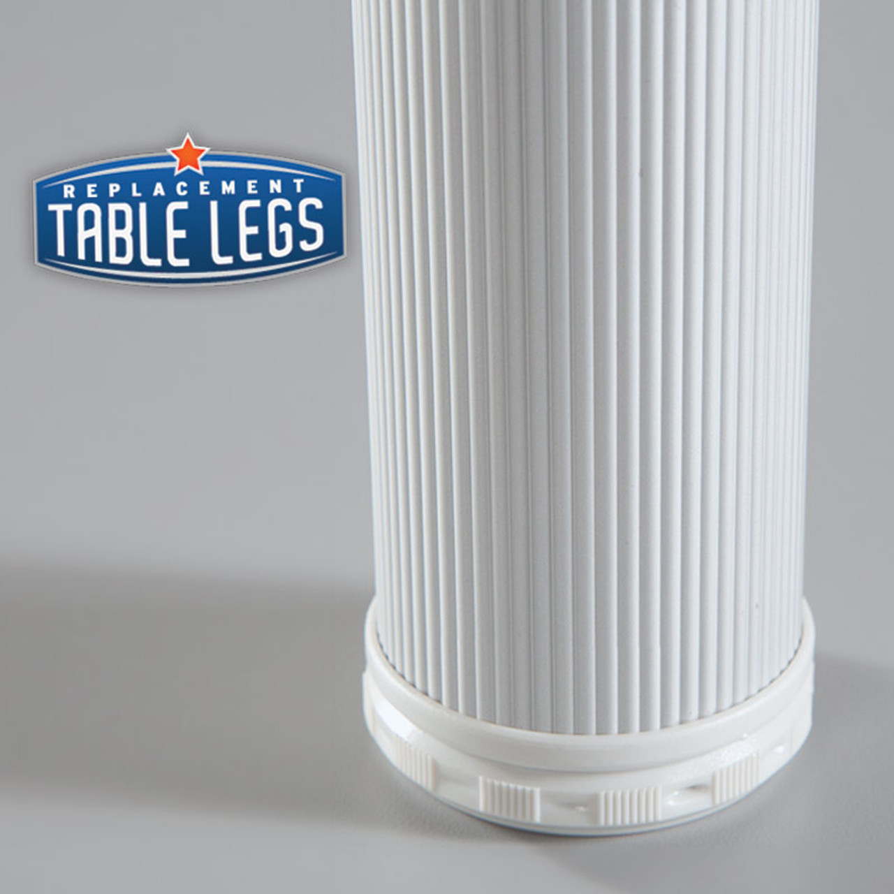 Alumina Como Leg 4'' Cabinet Leg,  2'' diameter, 1-1/8'' adjustable foot - Replacementtablelegs.com
