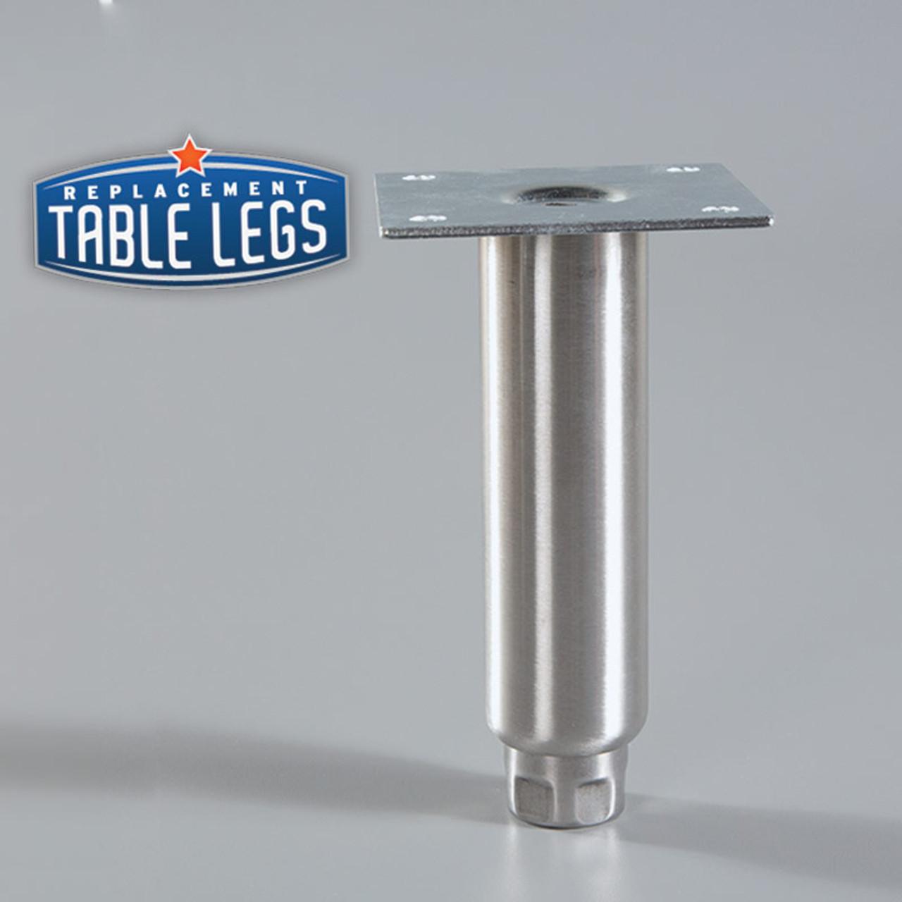 Heavy Duty Equipment Leg, Food Grade Stainless Steel, 6'' Equipment Leg - replacementtablelegs.com