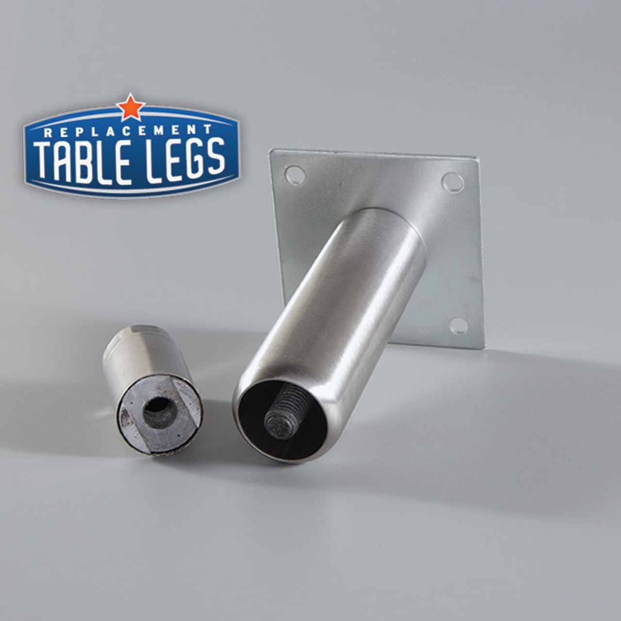 Mounting Bracket on Heavy Duty Equipment Leg with adjustable foot removed  - replacementtablelegs.com