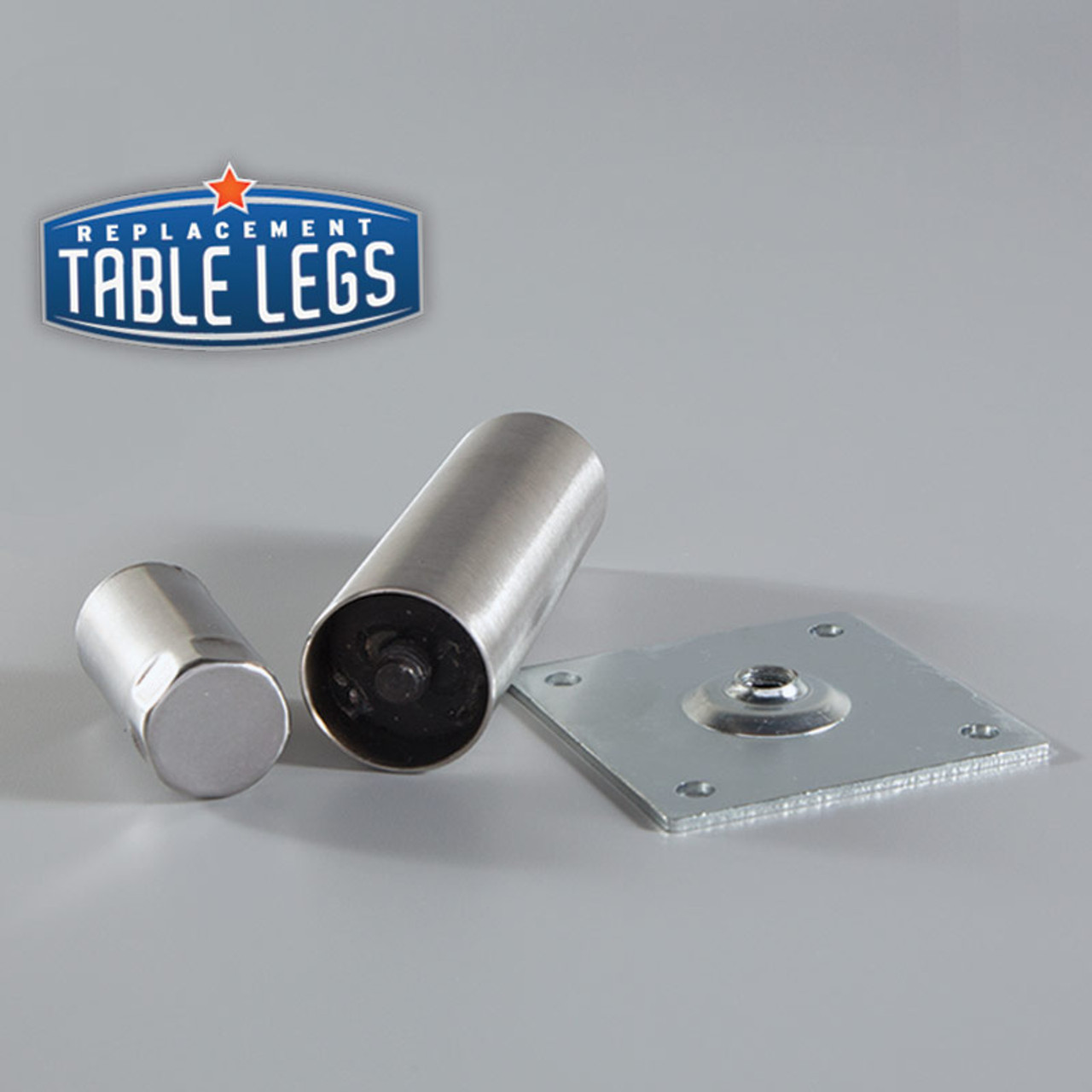Disassembled Mounting Bracket and Heavy Duty Equipment Leg  - replacementtablelegs.com