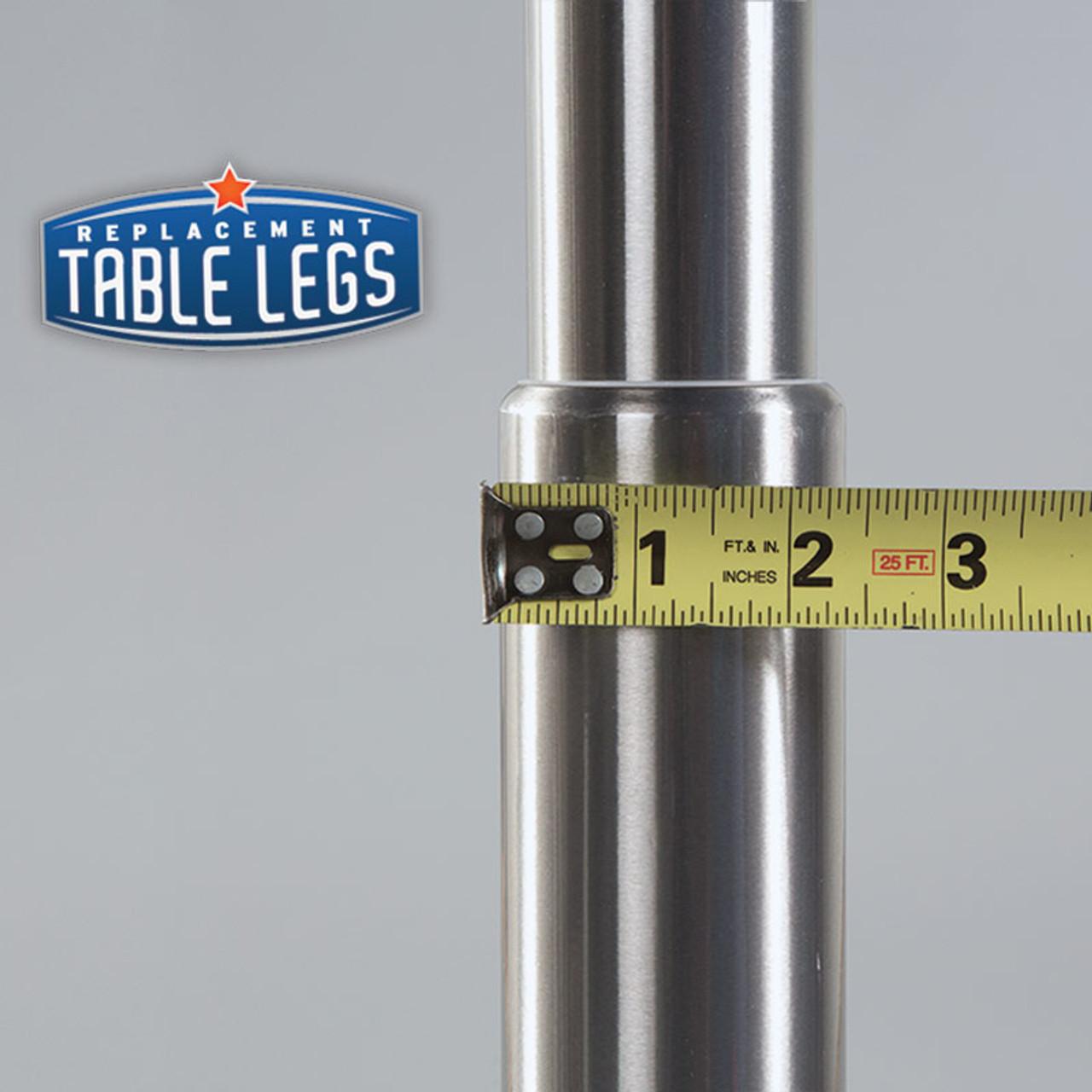 Brushed Steel Studio Telescoping Table Leg - replacementtablelegs.com