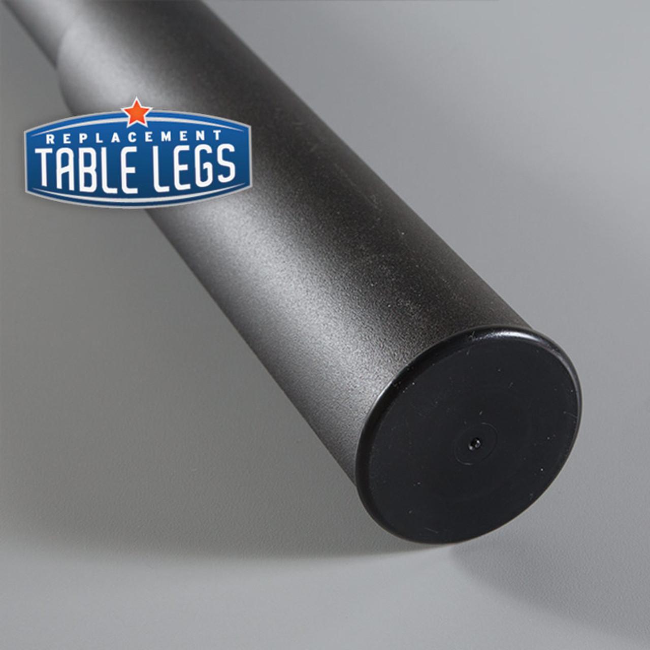 Black Matte Studio Telescoping Table Leg foot detail - replacementtablelegs.com