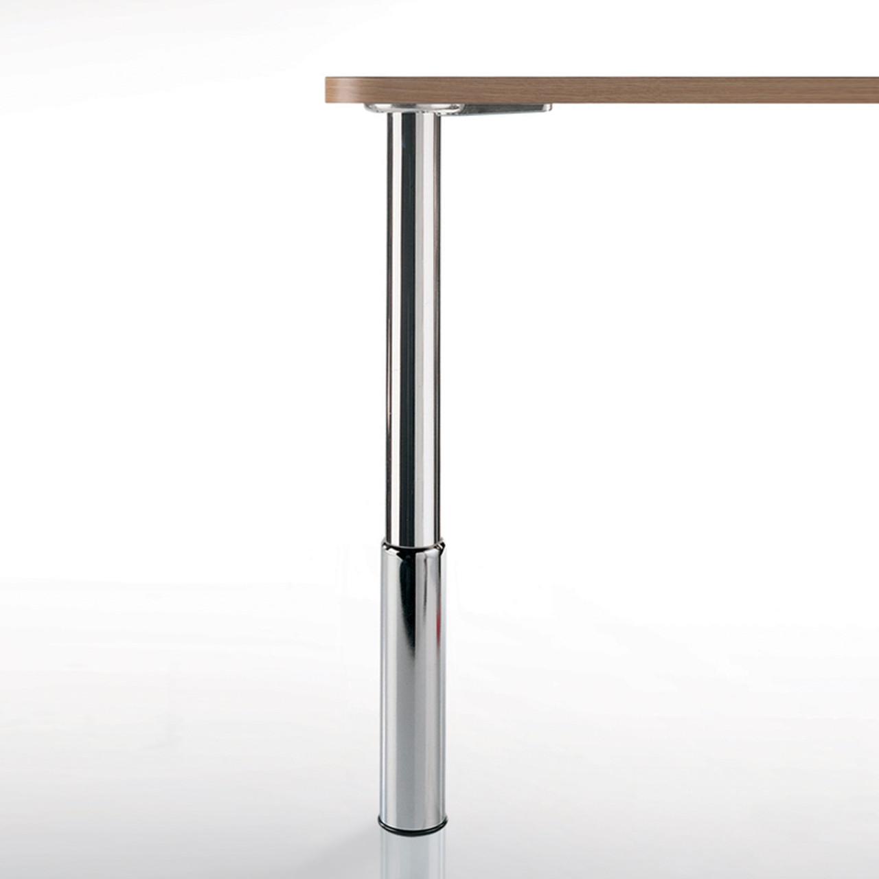 """Studio Telescoping Table Legs, 36""""-43"""", 2'' diameter leg 7'' adjustable foot - replacementtablelegs.com"""