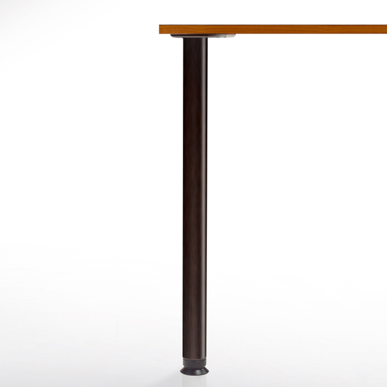 Zoom Table Legs, 27-3/4'' height,  2-3/8'' diameter leg 4'' adjustable foot, black matte - replacementtablelegs.com