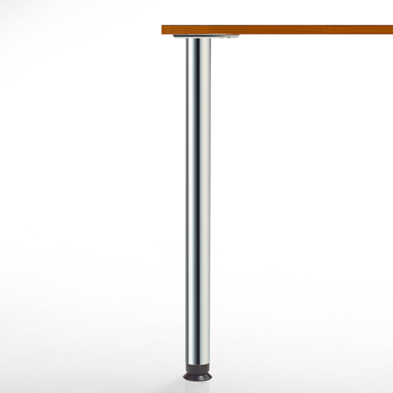 Zoom Table Leg, 27-3/4'',  2-3/8'' diameter leg 4'' adjustable foot - replacementtablelegs.com