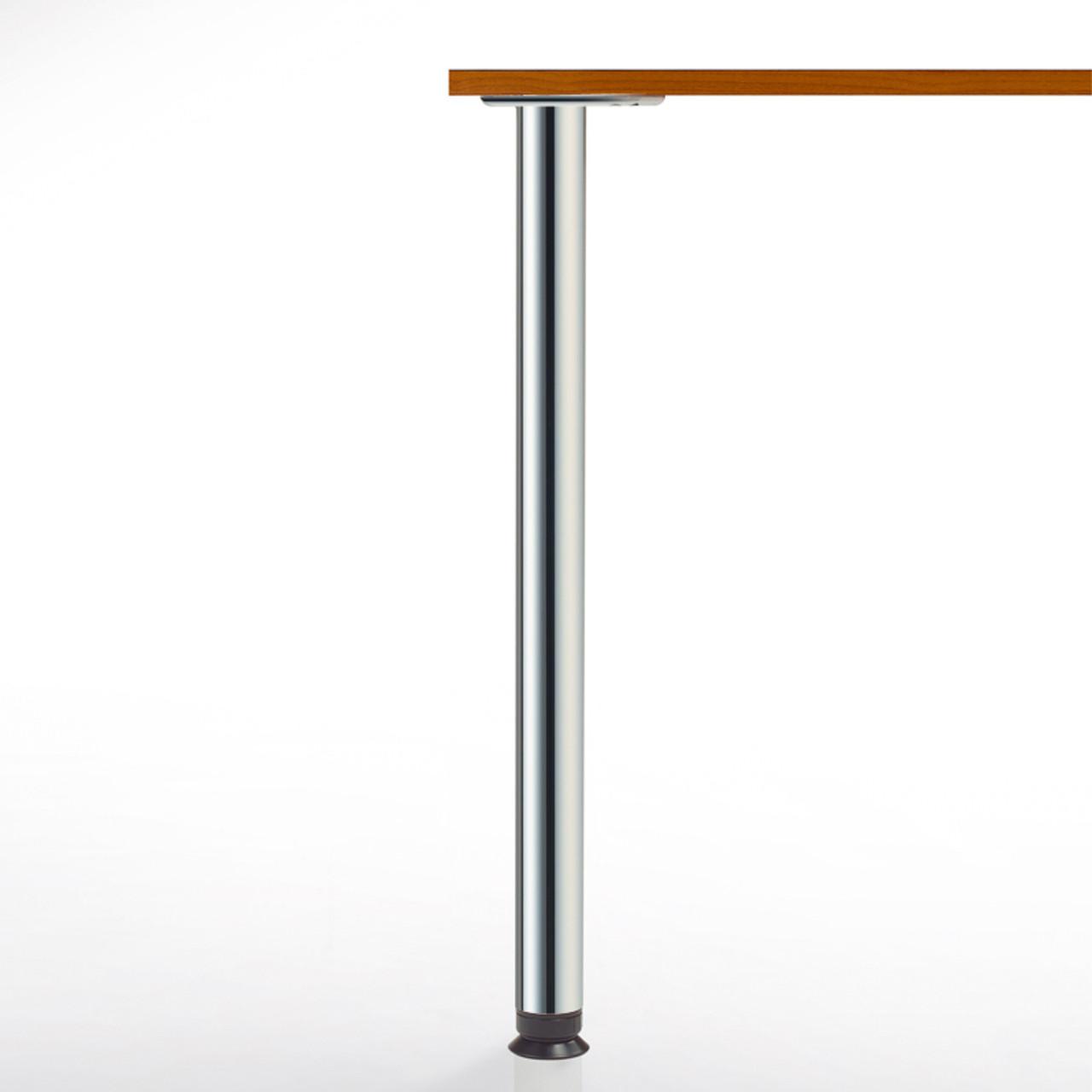Zoom Table Leg, 27-3/4'', 2-3/8'' diameter leg 4'' adjustable foot - replacementtablelegs.com