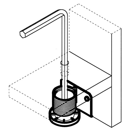 Diagram - Steel Cabinet and Furniture Leveler Attachment - replacementtablelegs.com