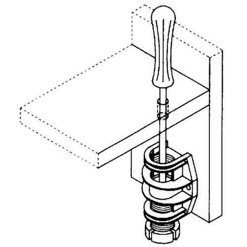 Diagram - Economy ABS Cabinet and Furniture Leveler Attached - replacementtablelegs.com