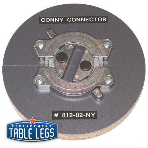 "Zink, Tabletop Connector, 3-1/2"" diameter - replacementtablelegs.com"