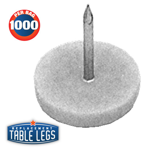 "White Nail Glide, 5/8"" diameter, 3/4"" length - replacementtablelegs.com"