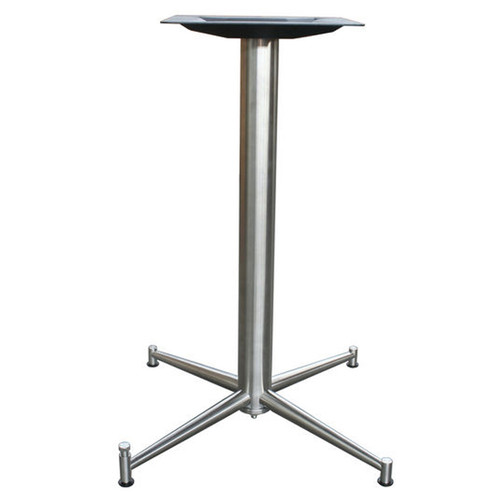 "4 LEG PRONG TABLE BASE, Ravenna Line, Stainless Steel, 28-1/4"" height, 17""x17"" base spread, 2-1/2"" diameter column - replacementtablelegs.com"