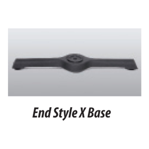 """X Style Table Base 5""""x22"""" - replacementtablelegs.com"""