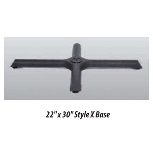 "X Style Table Base 22""x30"" - replacementtablelegs.com"