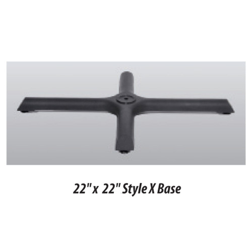 "X Style Table Base 22""x22"" - replacementtablelegs.com"