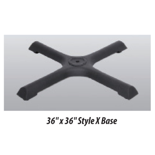 """X Style Table Base 36""""x36"""" - replacementtablelegs.com"""