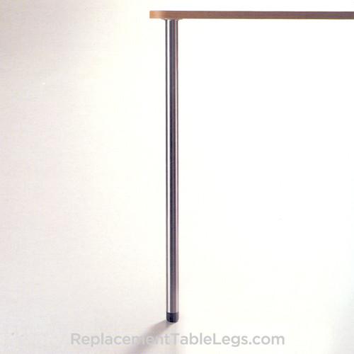 Slim Table Leg, 27-3/4'' height,1-3/8'' diameter leg, 1'' adjustable foot, SINGLE