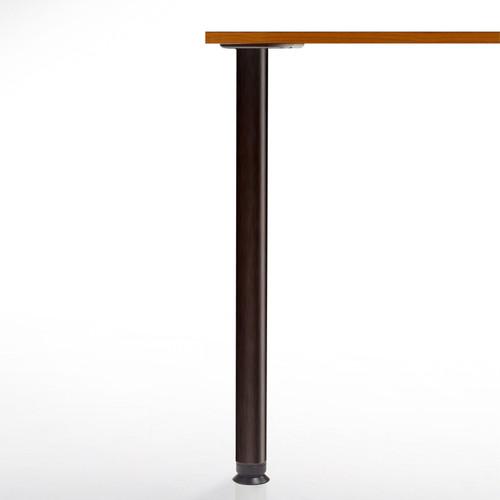 SET of 4, 34-1/4'' height, Zoom Table Legs, Black Matte, 2-3/8'' diameter leg 4'' adjustable foot