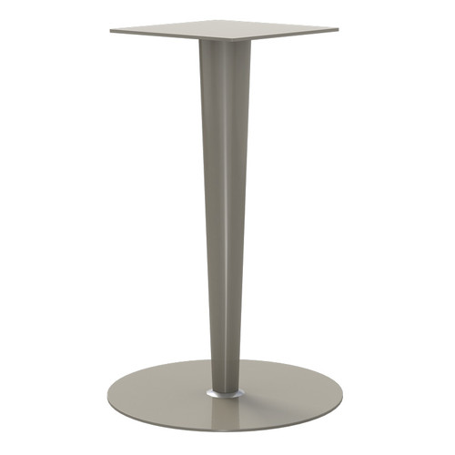 "Tapered Pedestal Base, 40-3/4"" Height, 18"" Base Diameter, 5"" to 2-1/4"" diameter Column - Replacementtablelegs.com"