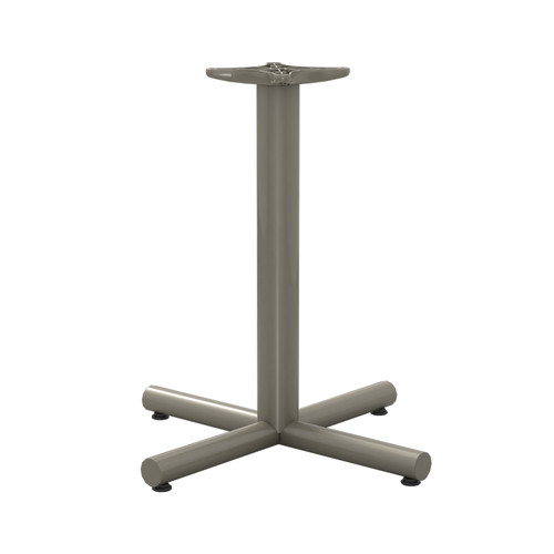 "Tubular X-style Table Base, 27-3/4"" Height, 22""x22"" Base Spread, 3"" diameter Columns with adjustable Levelers. - Replacementtablelegs.com"