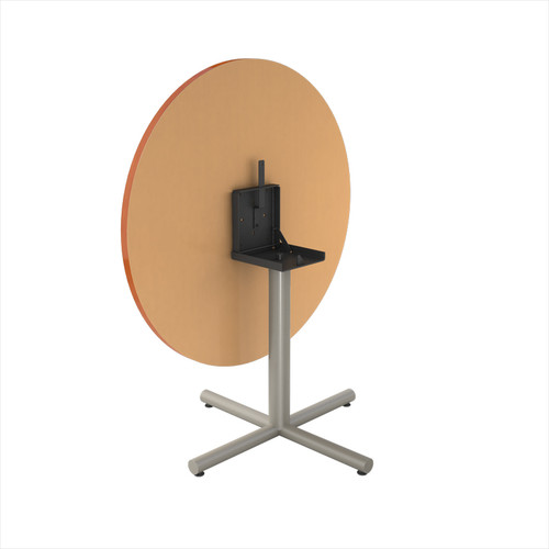 "Tubular X-style Table Base, 27-3/4"" Height, 22""x22"" Base Spread, 3"" diameter Columns with adjustable Levelers and Flip-Top. Tabletop not included. - Replacementtablelegs.com"