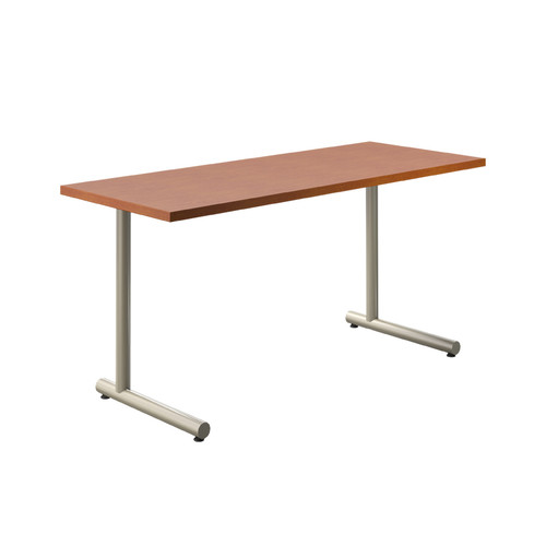 "Tubular C-style Table Base, 27-3/4"" Height, 18"" Base Spread, 2"" diameter Columns with adjustable Levelers. Tabletop not included. - Replacementtablelegs.com"