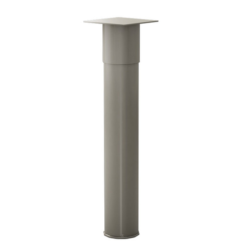 "Peninsula Island Leg, 3"" diameter, 24-7/8""-29"" Adjustable Height - Replacementtablelegs.com"